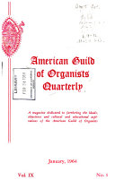 Quarterly   American Guild of Organists