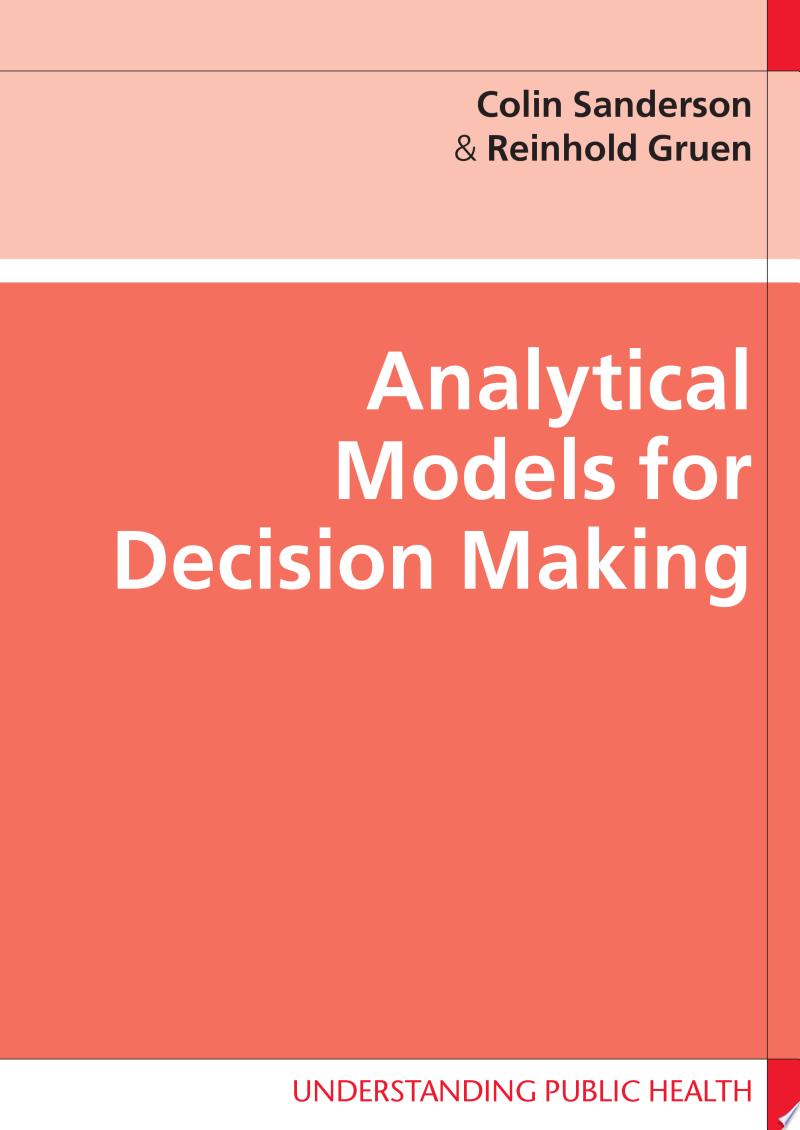 Analytical Models For Decision-Making banner backdrop