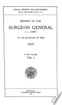 Report of the Surgeon General of the Army to the Secretary of War for the Fiscal Year Ending