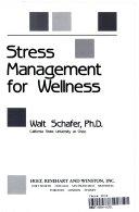 Stress Management for Wellness Book