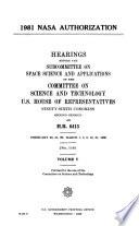 1981 NASA Authorization