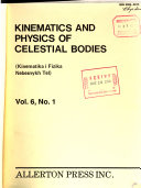 Kinematics and Physics of Celestial Bodies Book PDF