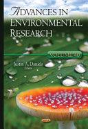 Advances in Environmental Research  Volume 40