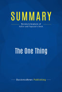 Summary: The One Thing Pdf/ePub eBook