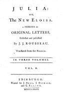 Julia  or  The new Eloisa  A series of original letters  etc