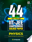 44 Years Iit Jee Physics Chapter Wise Solved Papers 1978 2021 By Career Point Kota