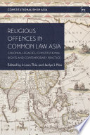 Religious Offences In Common Law Asia