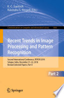 Recent Trends In Image Processing And Pattern Recognition Book PDF