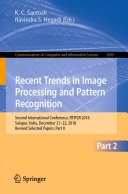 Recent Trends in Image Processing and Pattern Recognition [Pdf/ePub] eBook