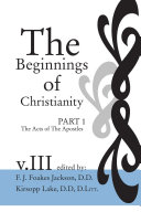 Pdf The Beginnings of Christianity: The Acts of the Apostles Telecharger