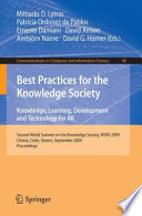 Best Practices For The Knowledge Society Knowledge Learning Development And Technology For All