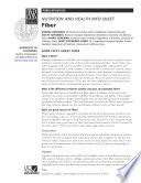Nutrition And Health Info Sheet Fiber Book PDF