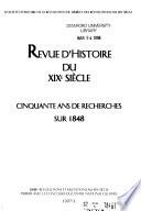Revue d'histoire du XIXe siècle