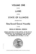 Laws of the State of Illinois Book