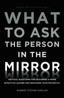 What to Ask the Person in the Mirror: Critical Questions for ...