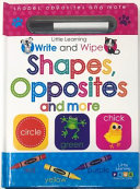 Write and Wipe Shapes  Opposites  and More