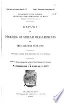 Report of Progress of Stream Measurements for ...
