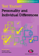 Pdf Test Yourself: Personality and Individual Differences Telecharger