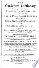 The Gardeners Dictionary