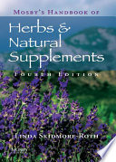 Mosby S Handbook Of Herbs Natural Supplements E Book Book