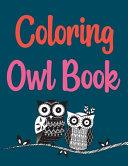 Coloring Owl Book Book