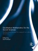 Qualitative Mathematics for the Social Sciences Book
