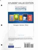 Financial & Managerial Accounting Ch 1-15 (Financial Chapters), Student Value Edition
