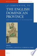 A Companion to the English Dominican Province
