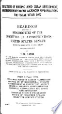 Department of Housing and Urban Development, and Certain Independent Agencies Appropriations for Fiscal Year 1977