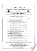 The Bulletin Of The Airplane Engineering Department U S A