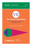 The Contest Problem Book VII: American Mathematics Competitions, 1995–2000 Contests