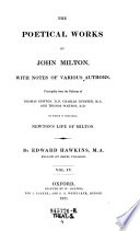 The    Poetical Works of John Milton  with Notes of Various Authors