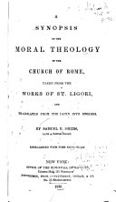 A Synopsis of the Moral Theology of the Church of Rome