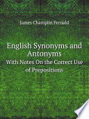 Read Online English Synonyms and Antonyms For Free