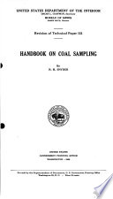 Handbook on Coal Sampling