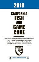 2019 California Fish and Game Code