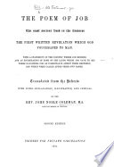 The Poem of Job     Translated     By the Rev  J  N  Coleman     Second Edition