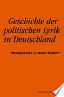 Geschichte der politischen Lyrik in Deutschland