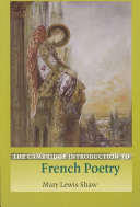 The Cambridge Introduction to French Poetry