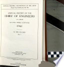 Annual Report of the Chief of Engineers  U S  Army  on Civil Works Activities