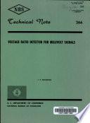 Voltage Ratio Detector for Millivolt Signals