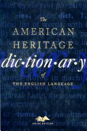 The American Heritage Dictionary of the English language, 3rd Ed, Auto-Graphic, Inc,