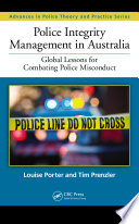 Police Integrity Management In Australia Book PDF