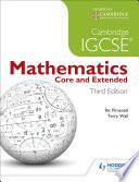 Cambridge IGCSE Mathematics Core and Extended 3ed + CD