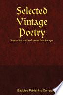 Selected Vintage Poetry Book PDF