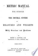 Metric Manual for Schools Book
