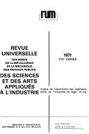 Revue universelle des mines, de la métallurgie, de la mécanique des travaux publics des sciences et des arts appliqués à l'industrie