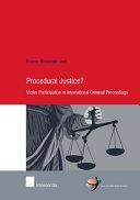Procedural Justice?