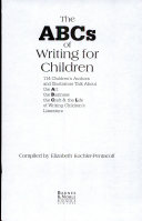 Pdf The ABCs of Writing for Children