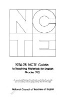 1974 75 Ncte Guide To Teaching Materials For English Grades 7 12 Book
